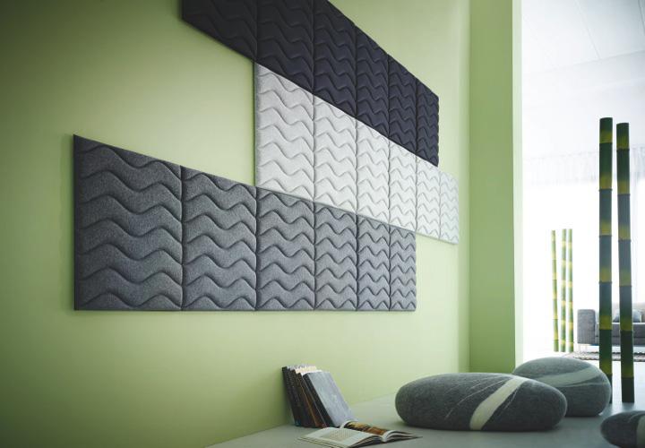 Der Decampo Wandabsorber von Preform absorbiert effektiv Schall in Ihrem Büro