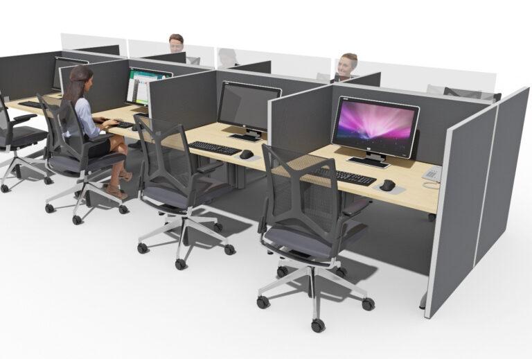 Beispiel Akustiklösung Call Center mit Standard-Einrichtung