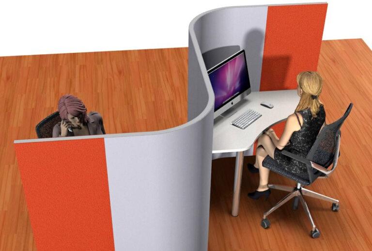 Planung Call Center als Inspiration für eine Akustiklösung mit Schallabsorber im Büro