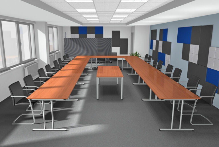 Planung Konferenzraum als Inspiration für eine Akustiklösung mit Schallabsorber im Büro