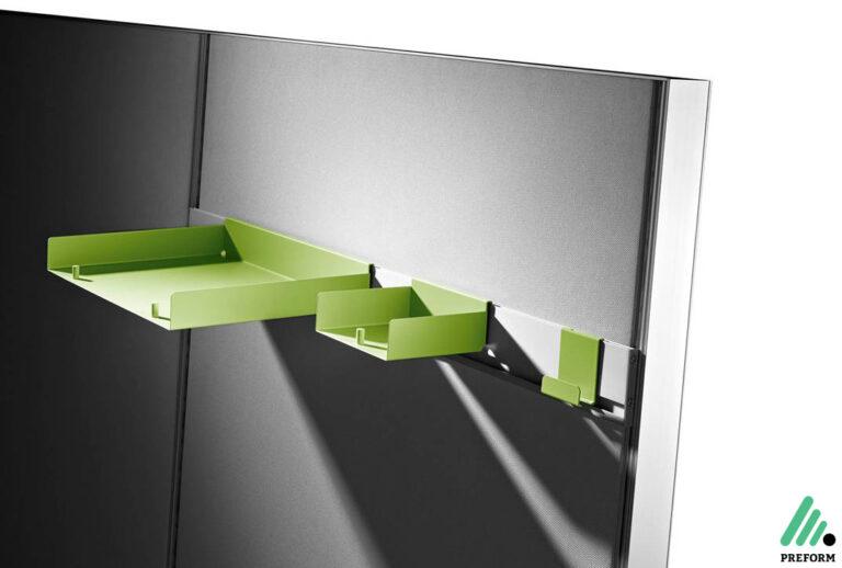 Bildergalerie mit Decato DP50 Tischaufsatzwand Organisation als Akustiklösung für Ihr Büro