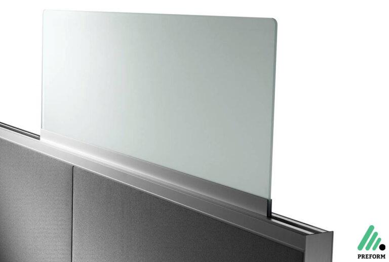 Bildergalerie mit Decato DP50 Tischaufsatzwand Glas als Akustiklösung für Ihr Büro