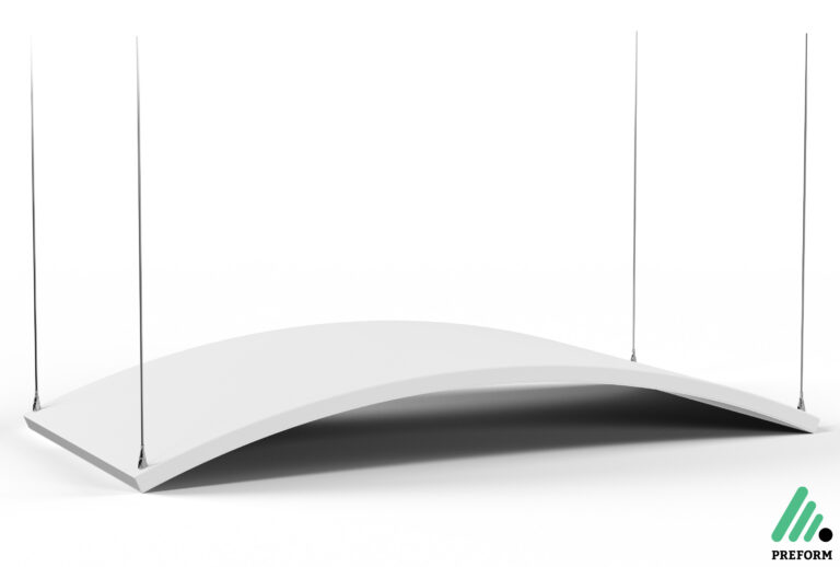 Bildergalerie CGI Akustiklösung Acoustics in Motion Deckenabsorber für Ihr Büro