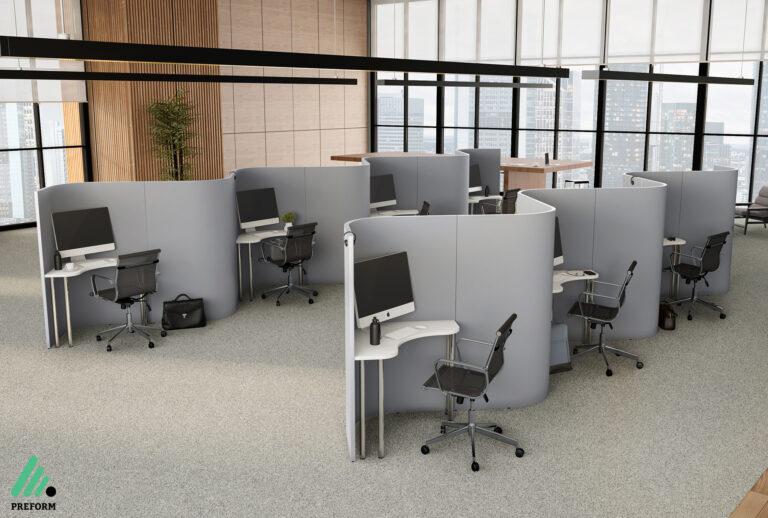 Bildergalerie CGI Akustiklösung für Call Center