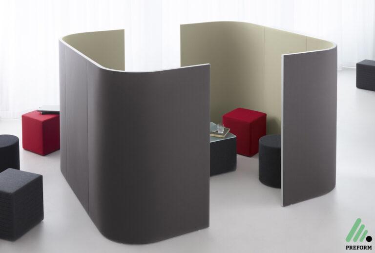 Bildergalerie mit Decato Modul Stellwand Corner als Akustiklösung für Ihr Büro