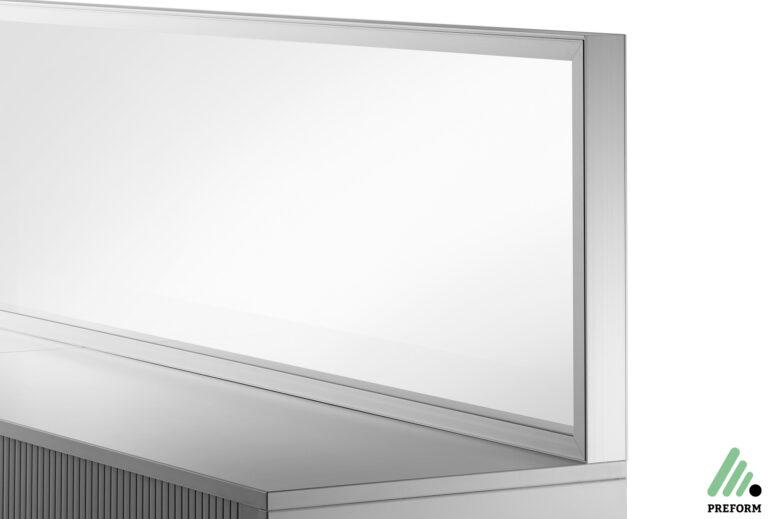 Bildergalerie mit Decato DP50 Schrankaufsatz Glas als Akustiklösung für Ihr Büro