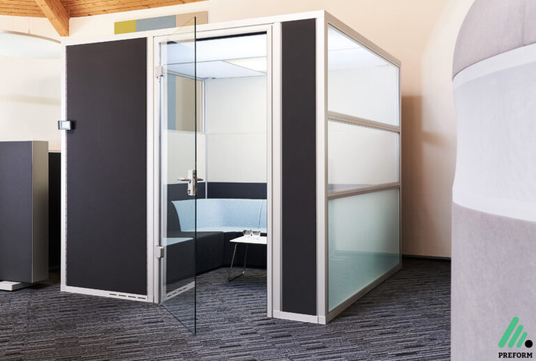 Bildergalerie mit Decato DP50 Volume Kabine als Akustiklösung für Ihr Büro