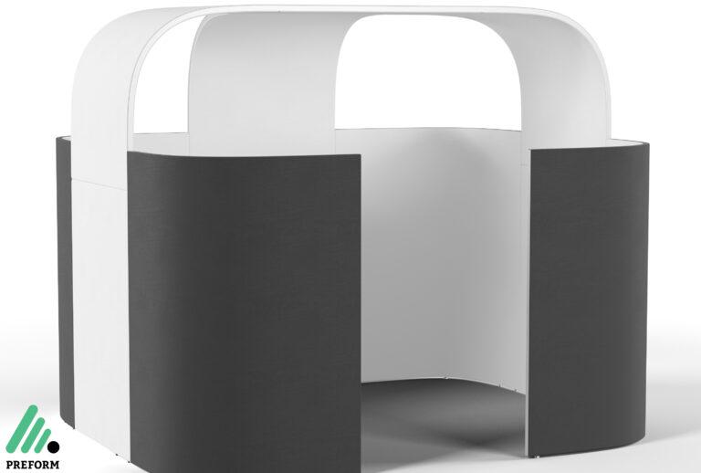 Bildergalerie CGI Akustiklösung Decato Discreto für Ihr Büro