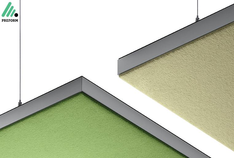 Bildergalerie mit Decato ModulScene Deckenabsorber als Akustiklösung für Ihr Büro