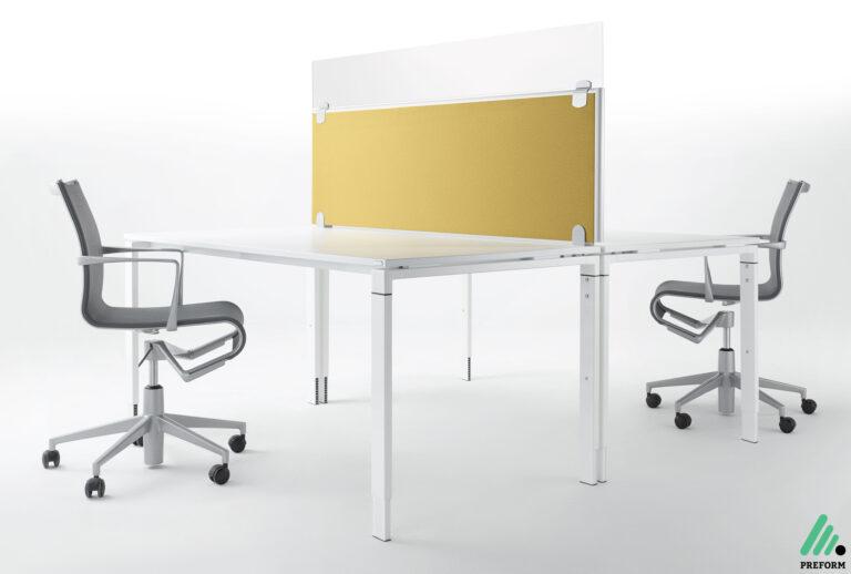 Bildergalerie mit Formfac4 Tischaufsatzwand Glas als Akustiklösung für Ihr Büro