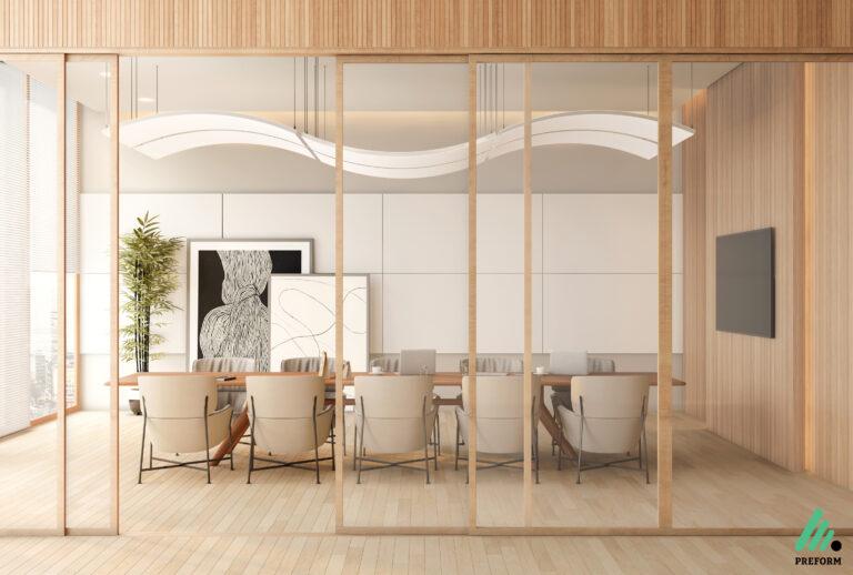 Bildergalerie CGI Akustiklösung für Konferenzräume