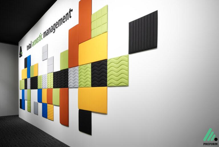 Bildergalerie mit Decampo Wandabsorbern in verschiedenen Farben