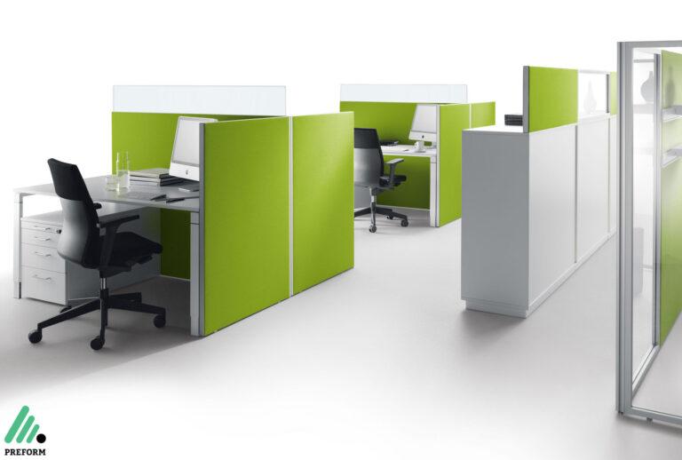 Bildergalerie mit Decato Modul Stellwände als Akustiklösung für Ihr Büro
