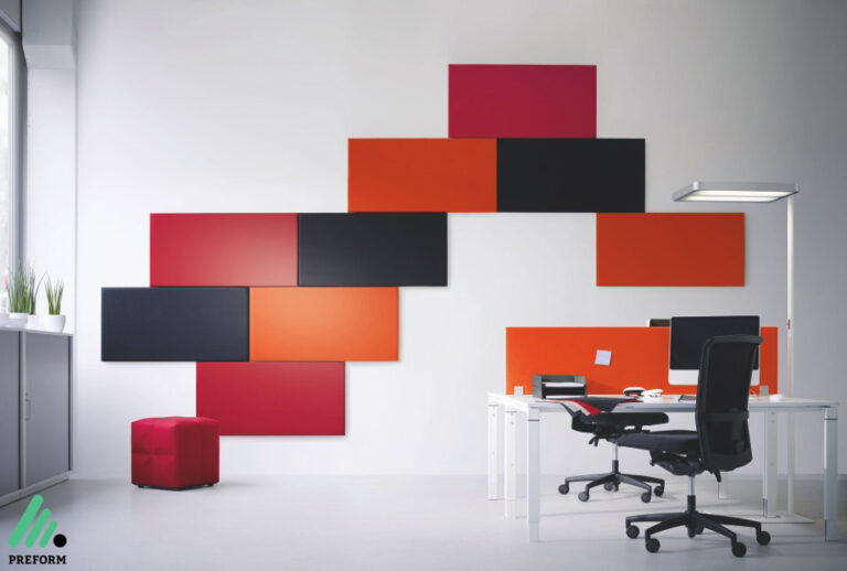 Bildergalerie mit Decampo Wandabsorbern am Arbeitsplatz