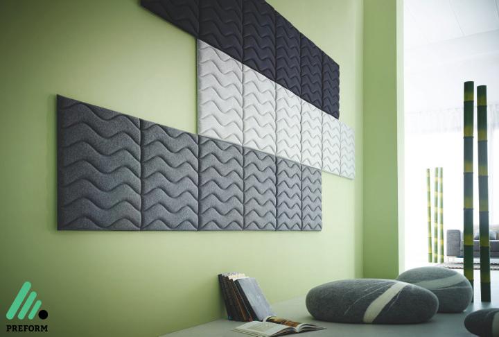 Bildergalerie mit Decampo Wandabsorber in schwarz-grau