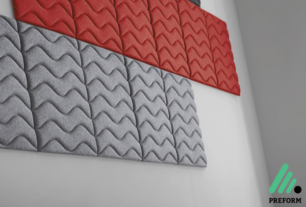 Bildergalerie mit Decampo Wandabsorber in rot-grau