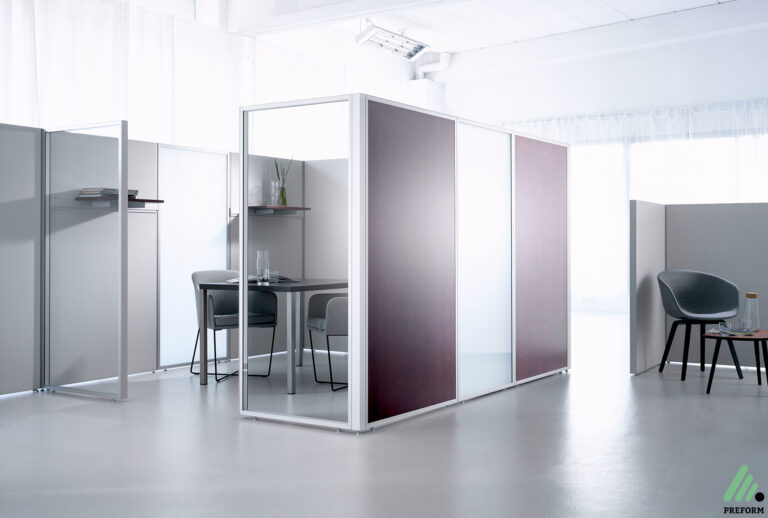 Bildergalerie mit Decato DP50 Raumgliederung als Akustiklösung für Ihr Büro