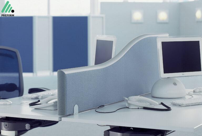 Bildergalerie mit Formfac5 Tischaufsatzwand als Akustiklösung für Ihr Büro
