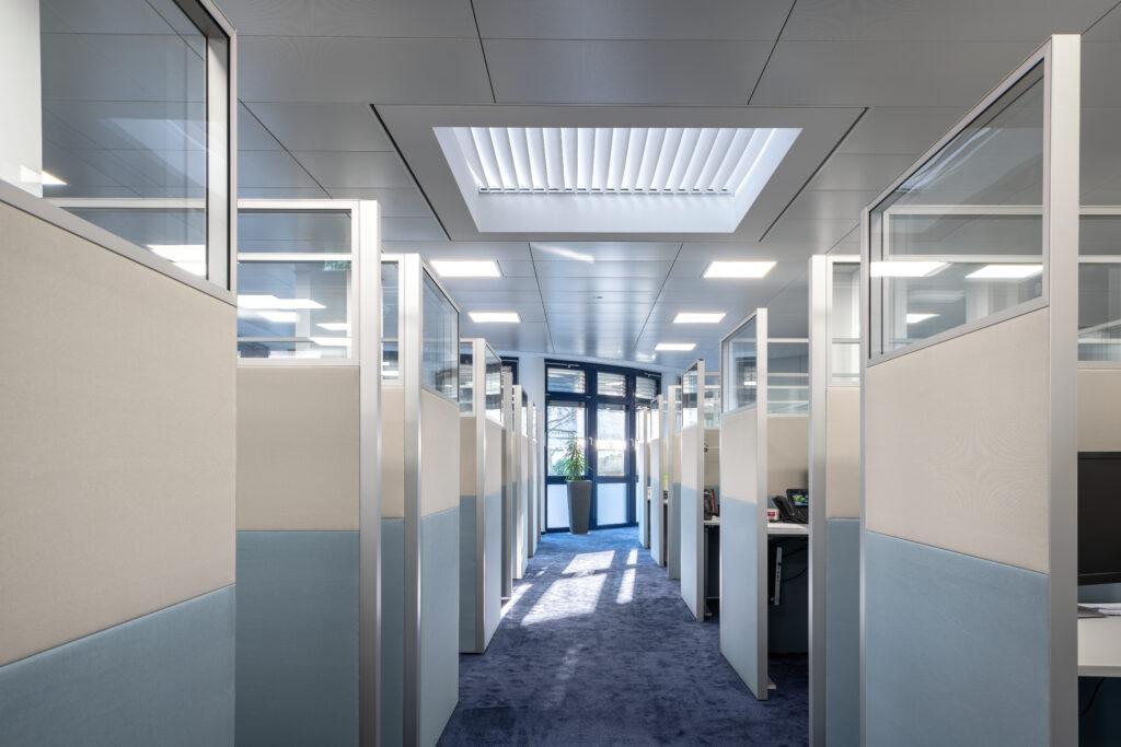Kundenlösung Volksbank Baden-Baden Rastatt eG mit Schallabsorber für das Büro