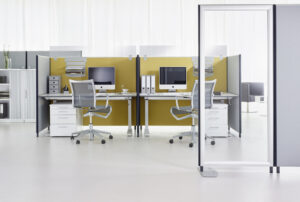 Gliederung und Abtrennung von Büros und Sozialräumen zum Infektionsschutz