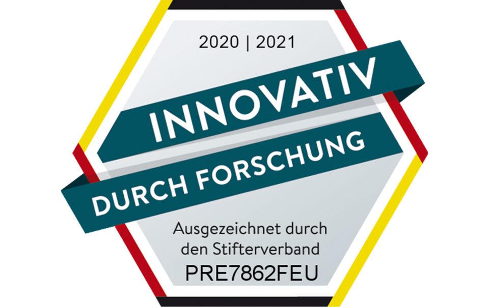 """Gütesiegel """"Innovativ durch Forschung"""" für PREFORM"""