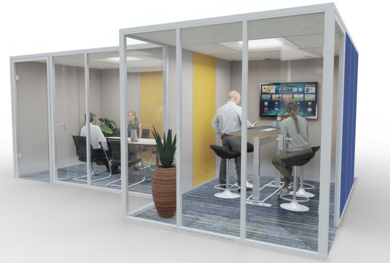 Planung Mittelzone als Inspiration für eine Akustiklösung mit Schallabsorber im Büro