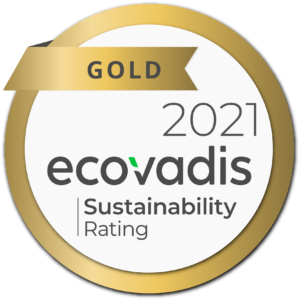 EcoVadis Sustainability Rating Gold Medaille