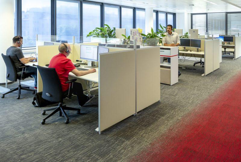 Kundenlösung A1 Telekom Austria mit Schallabsorber für das Büro