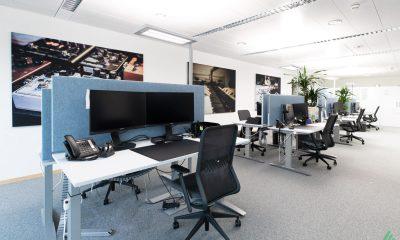 Referenz SUISA - Akustiklösungen für Ihr Büro mit Stellwänden von Preform