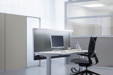 Decato Modul Absorber mit Arbeitsplatzbeleuchtung - Beleuchtung Büro