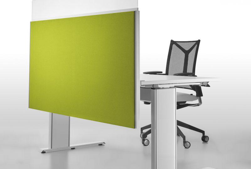Decato Modul System Schreibtisch Trennwand mit Sichtblende