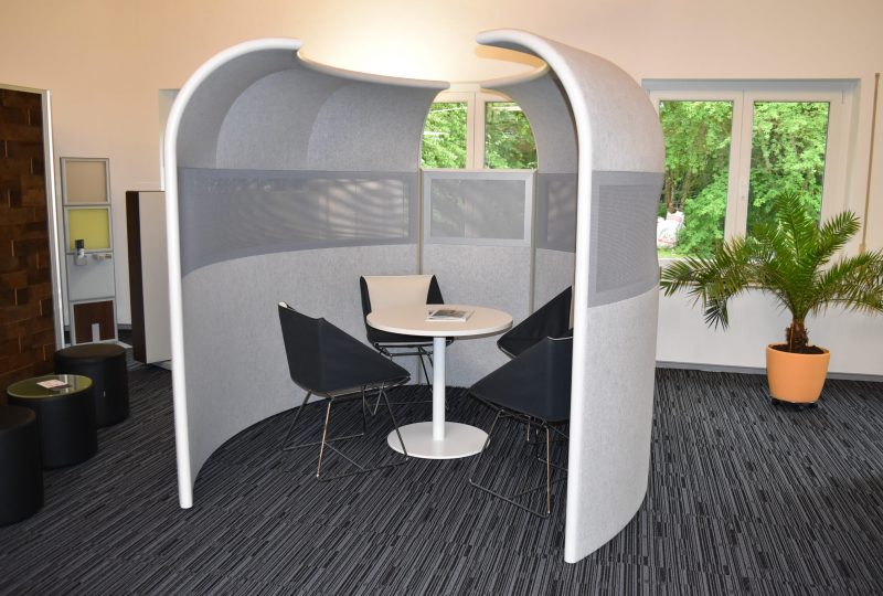 Schallschutzkabine Iglu beschafft zusätzliche Raummöglichkeiten