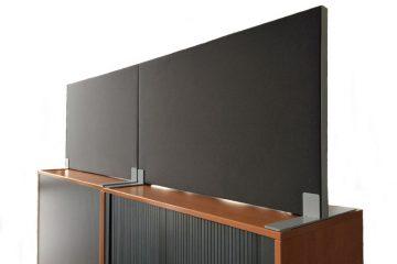 Decato Modul Schreibtisch Trennwand sorgt für Schallschutz am Schreibtisch