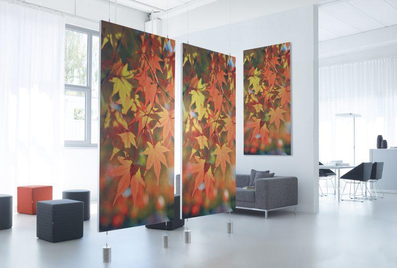 Decato ModulScene Akustik Raumteiler und Stoffwand
