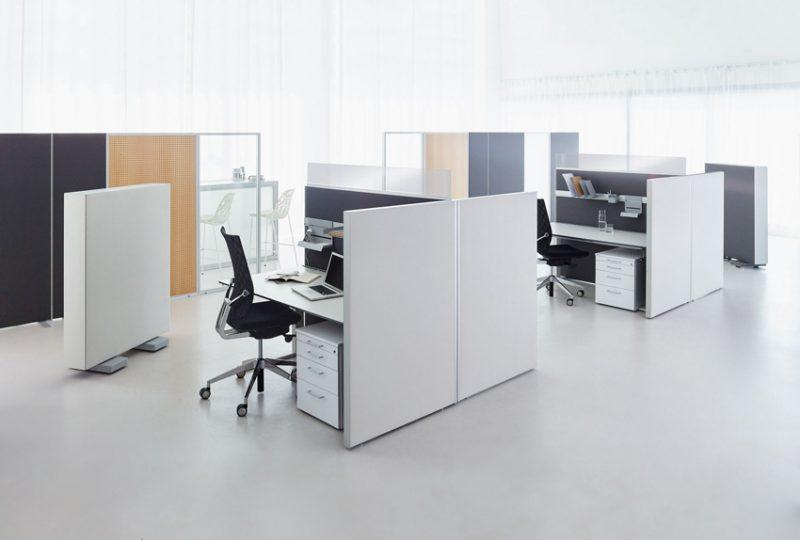 Decato dp50 Arbeitsplatz Stellwände mit Clips