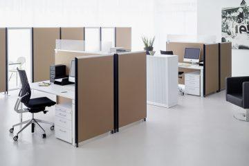 Formfac5 Stellwand mit Klettverbindung von Preform als Akustiklösung für Ihr Büro