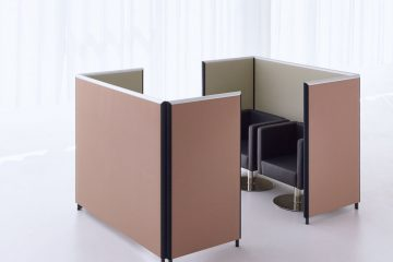 Formfac5 Koje doppel Akustik Stellwand Büro mit Klettverbindung
