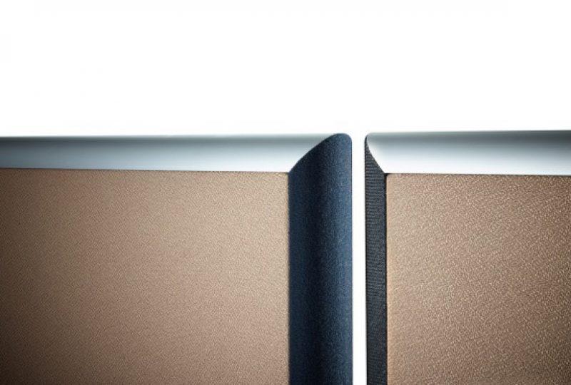 Formfac5 Stellwand Büro Detail mit Klettverbindung