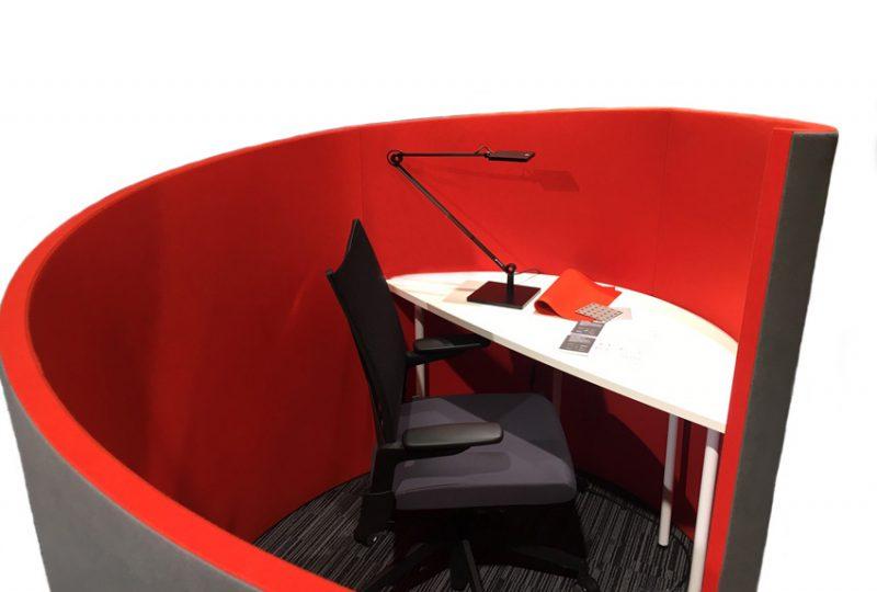 Decato Modul Nautilus für Schallschutz am Schreibtisch als Raum in Raum Lösung