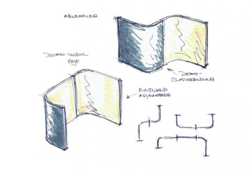 Modulares Konzept Corner als Besprechungsecke und Raum in Raum
