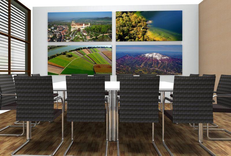 Beispiel Akustiklösung im Konferenzraum als Nachrüstung