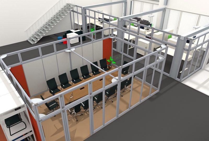 Beispiel Akustiklösung im Konferenzraum als Neueinrichtung
