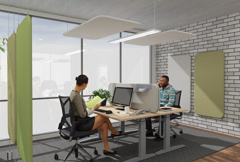 Planungsbeispiel mit Preform Akustik Wänden