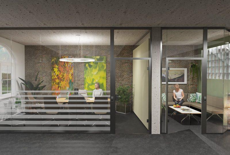 Konferenzraum aus Glas Trennwand als Raum in Raum System