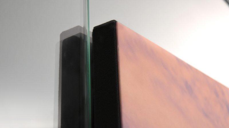 Schallabsorber Wand mit Motivdruck für Schallschutz im Büro