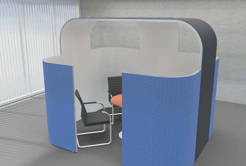 Schallschutz Büro durch Raum in Raum Absorber