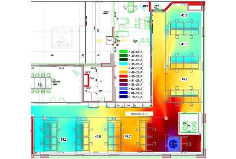 Schalldämmung und Schallschutz im Büro durch geringere Nachhallzeit