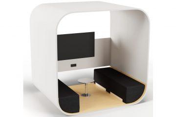 Prespace Tube Besprechungsraum und Raumakustiklösung als Raum im Raum