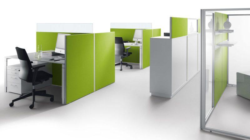 Decato Modul System als mobile Akustik Stellwand im Büro