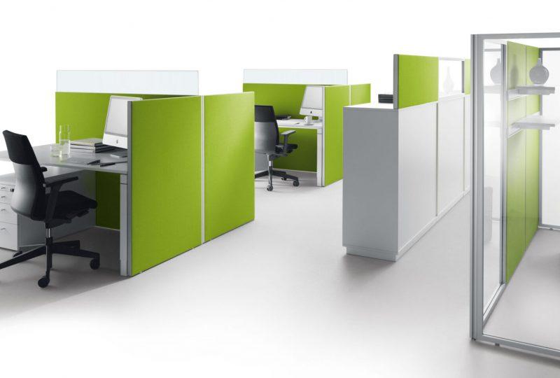 Decato Modul System als mobile Akustik Stellwand und Akustikwand im Büro